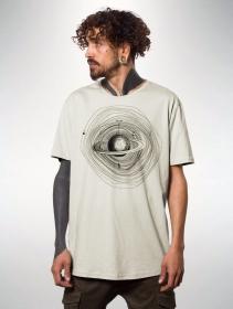 """T-shirt \""""Saturn\"""", Blanc cassé"""