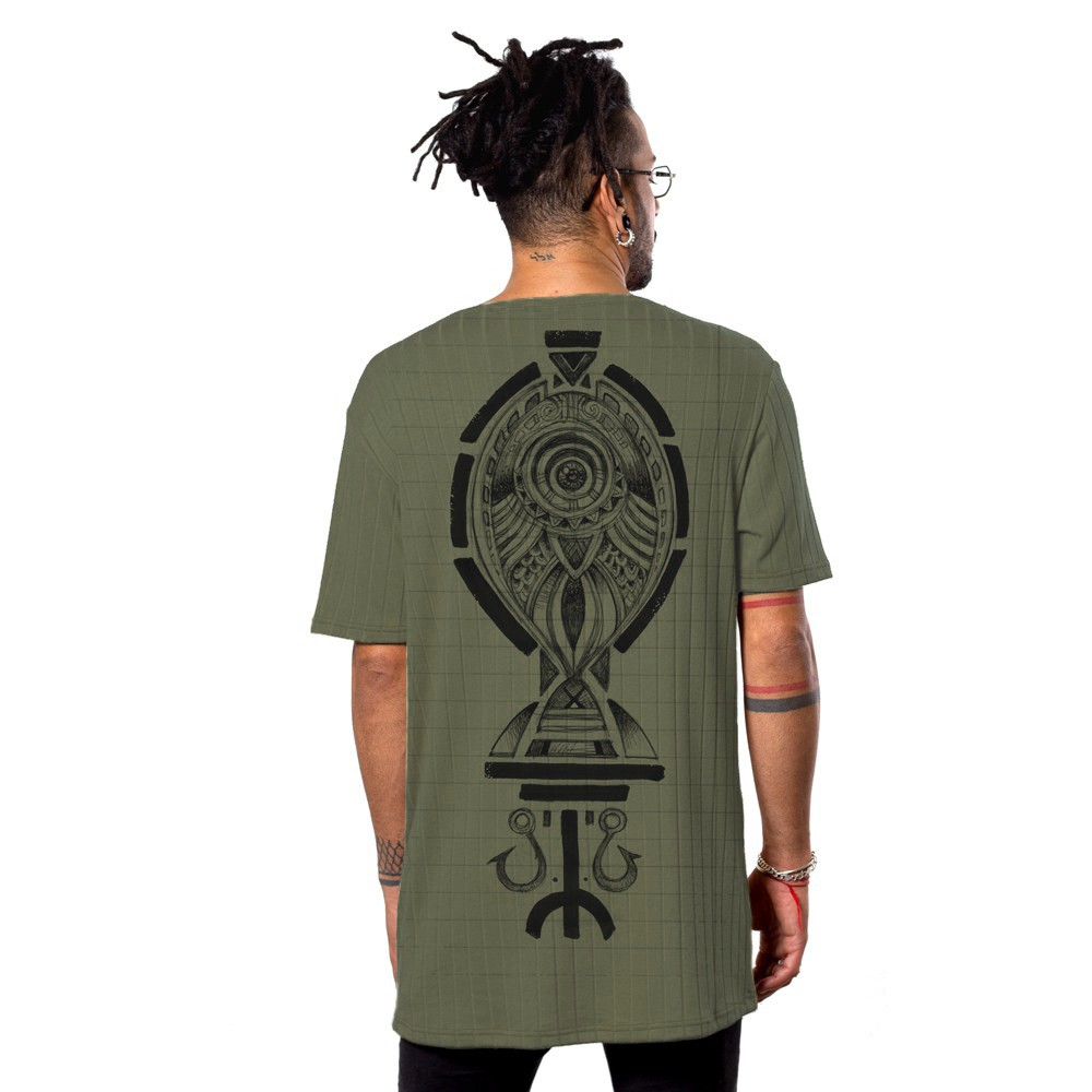 "T-shirt \""Scalebook\"", Vert kaki"
