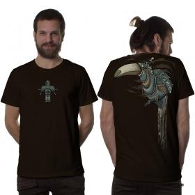 """T-shirt \""""Shlooky\"""", Marron foncé"""