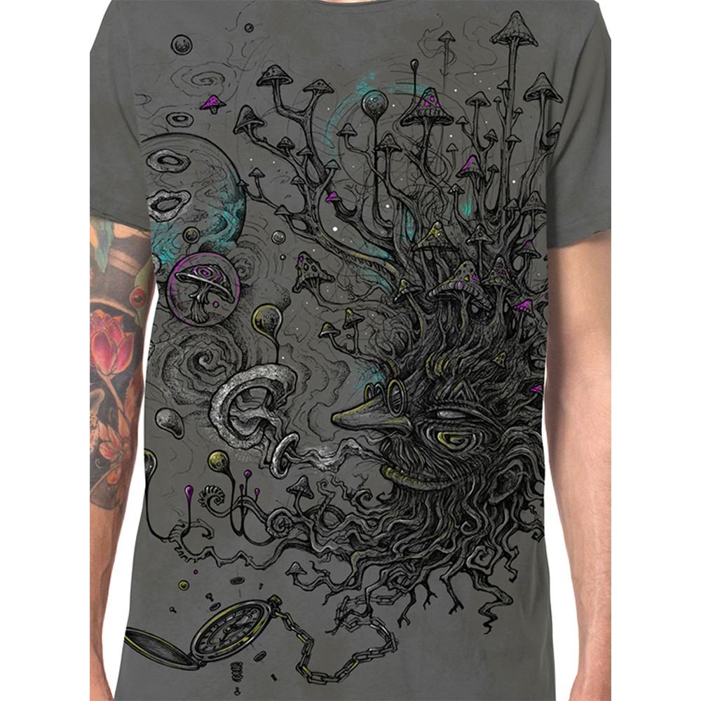 "T-shirt \""Shroombeard\"", Gris vieilli"