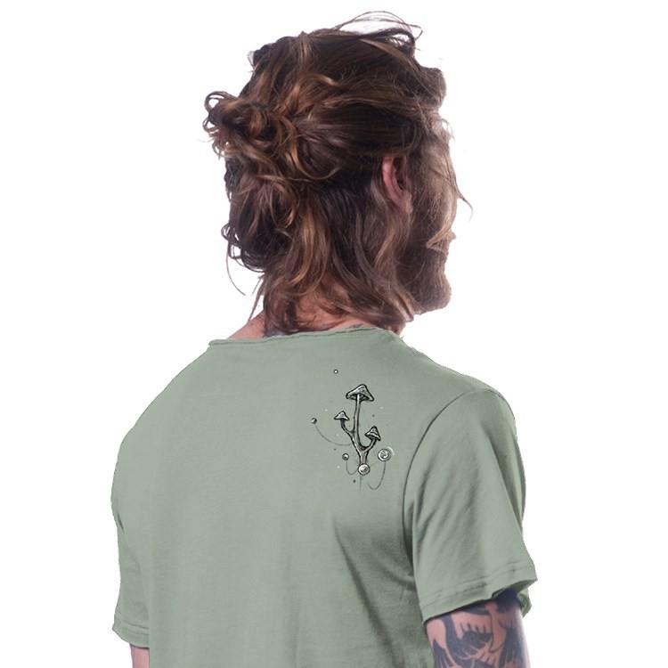 """T-shirt \""""Shroombeard\"""", Vert clair"""