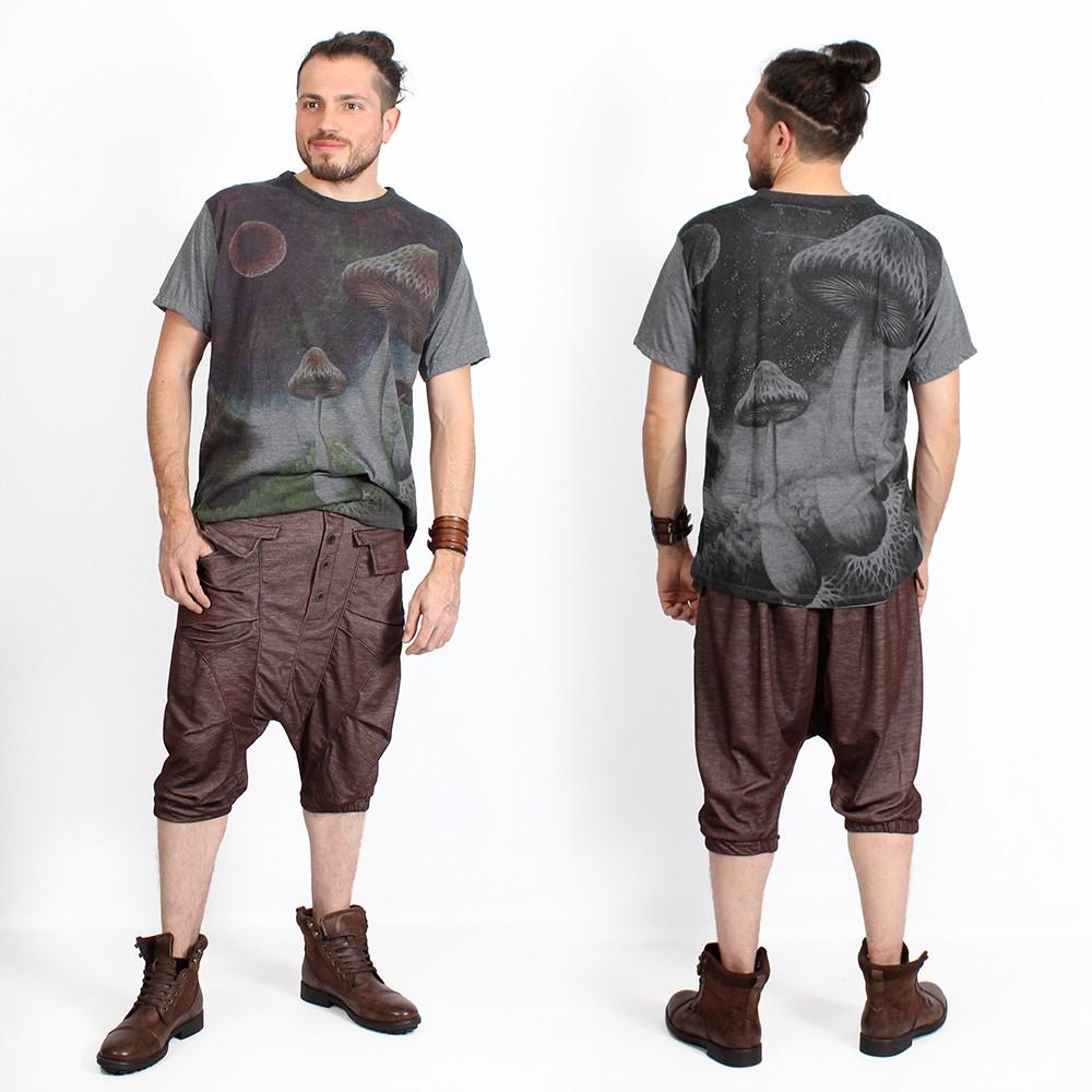 """T-shirt \""""Shrooms in space\"""", Gris foncé"""