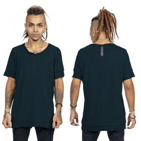"""T-shirt \""""Siam\"""", Bleu pétrole et noir"""