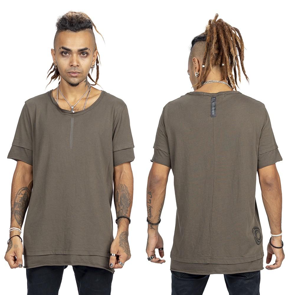 """T-shirt \""""Siam\"""", Gris charbon et argent"""