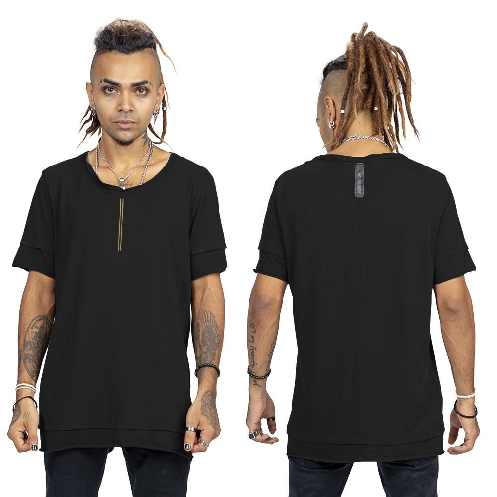 """T-shirt \""""Siam\"""", Noir et or"""