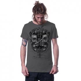 """T-shirt \""""Sinoptik\"""", Gris foncé"""