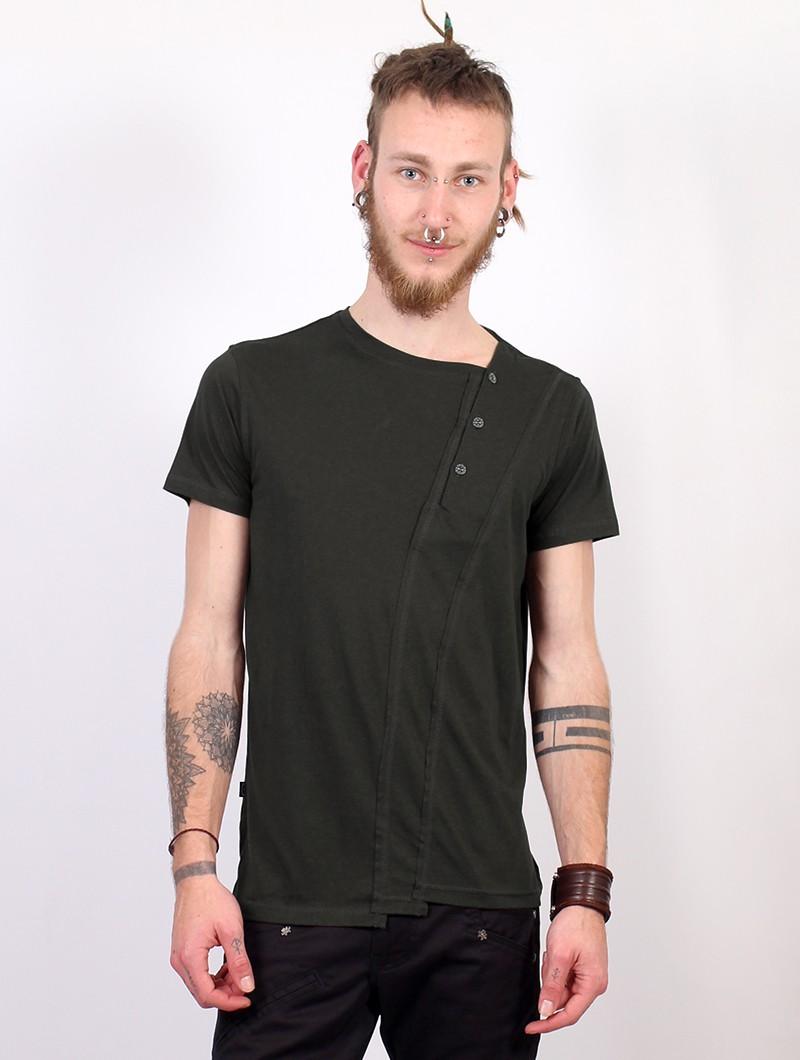 "T-shirt \""Slanted Remix\"", Vert kaki"