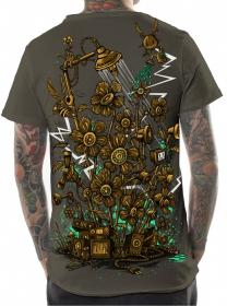 """T-shirt \\\""""Soundgarden\\\"""", Beige foncé"""