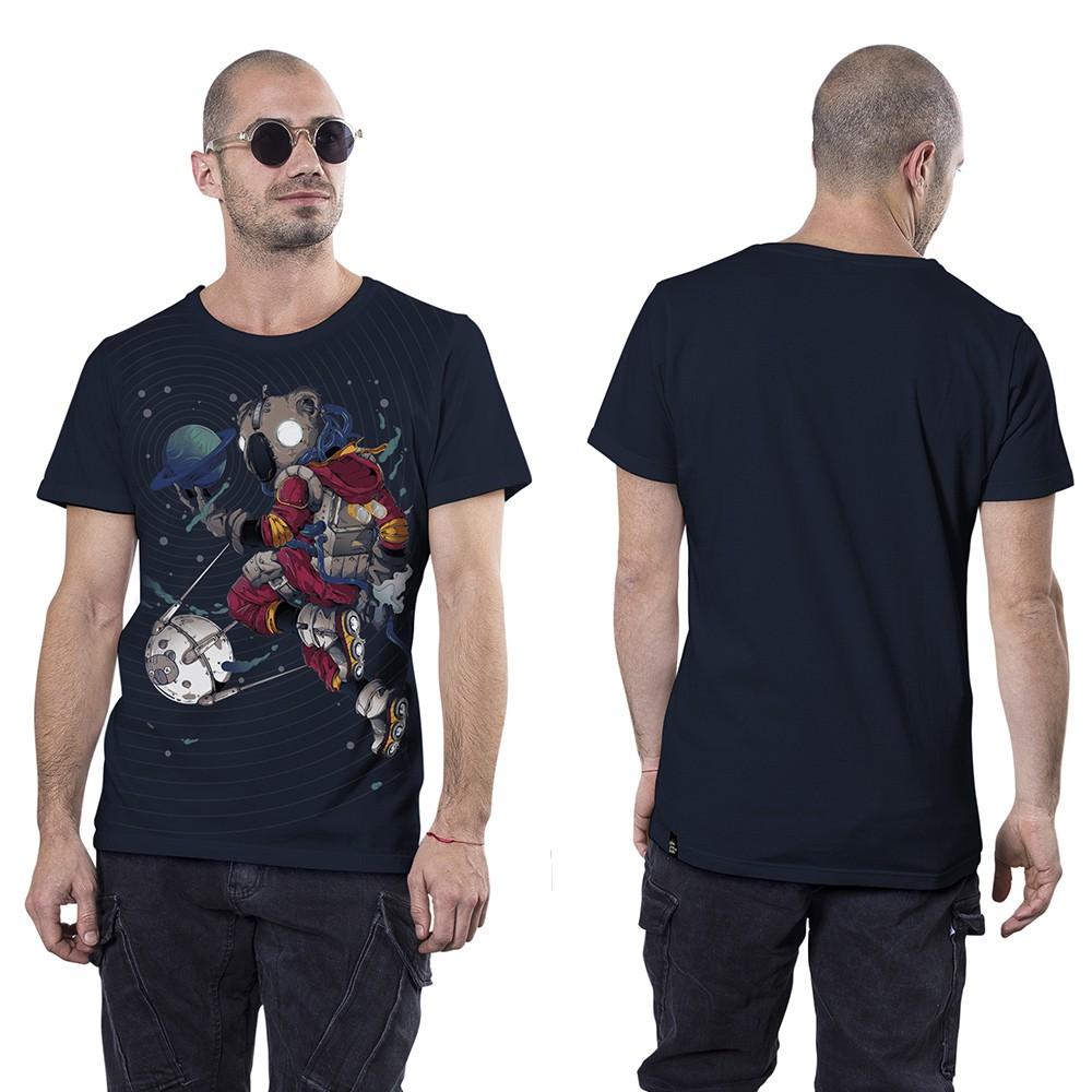 """T-shirt \""""Space Koala\"""", Bleu foncé"""