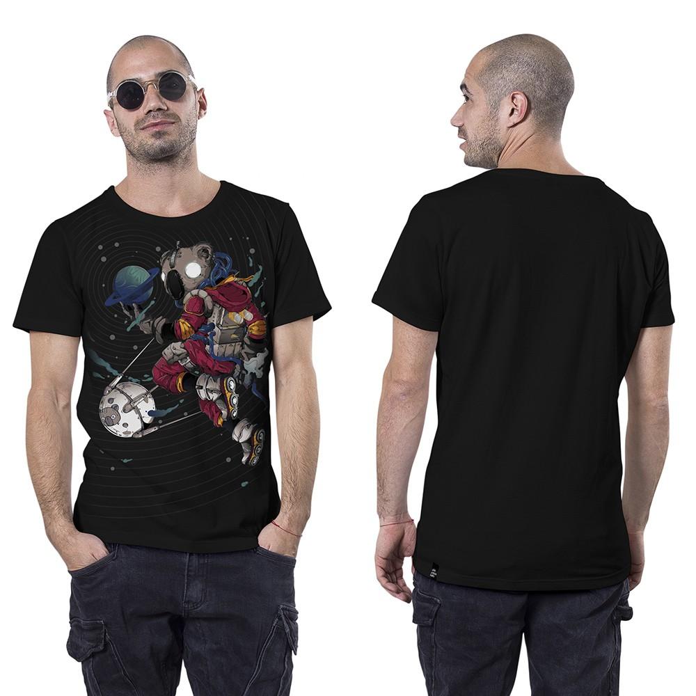 "T-shirt \""Space Koala\"", Noir"
