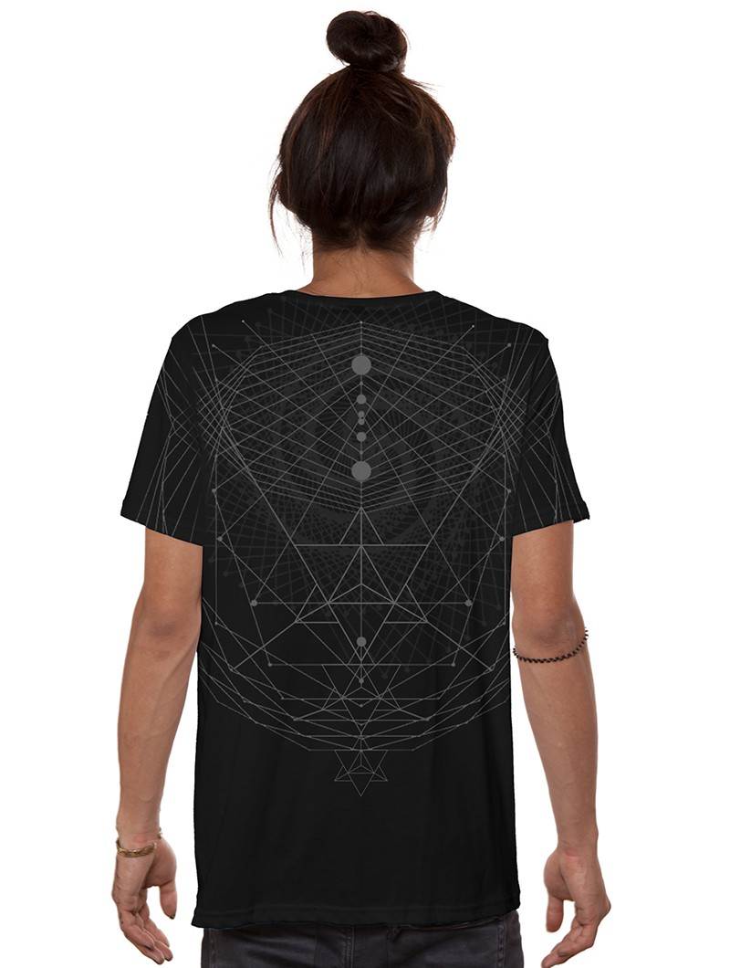 """T-shirt \""""Spiral C\"""", Noir"""