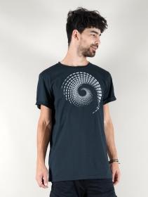 """T-shirt \""""Spiral Tierra\"""", Bleu pétrole"""