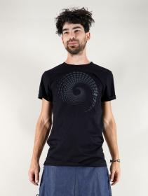 """T-shirt \""""Spiral Tierra\"""", Noir"""