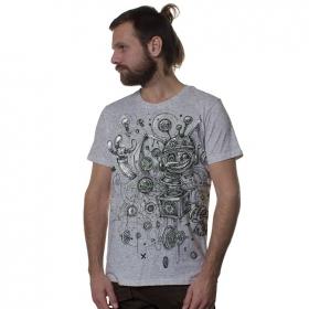 """T-shirt \""""Springbox\"""", Gris chiné"""