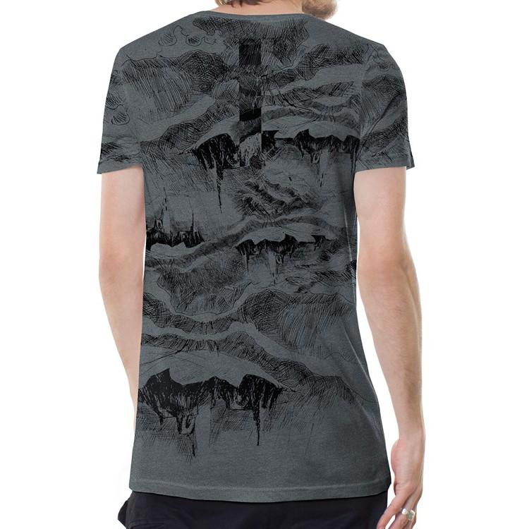 "T-shirt \""Stone Island\"", Gris chiné"