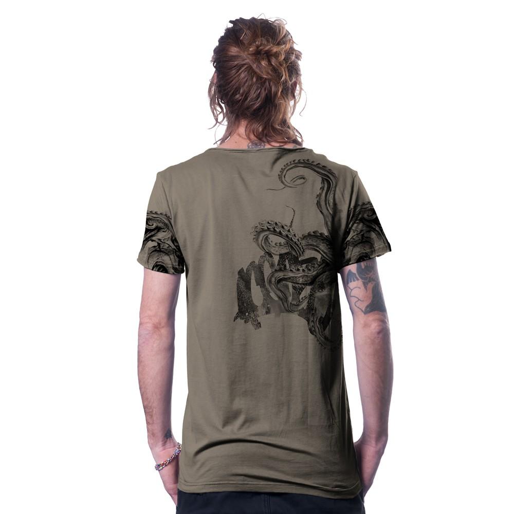 """T-shirt \""""Stoned\"""", Beige foncé"""