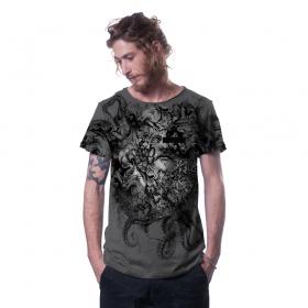 """T-shirt \""""Stoned\"""", Gris foncé chiné"""