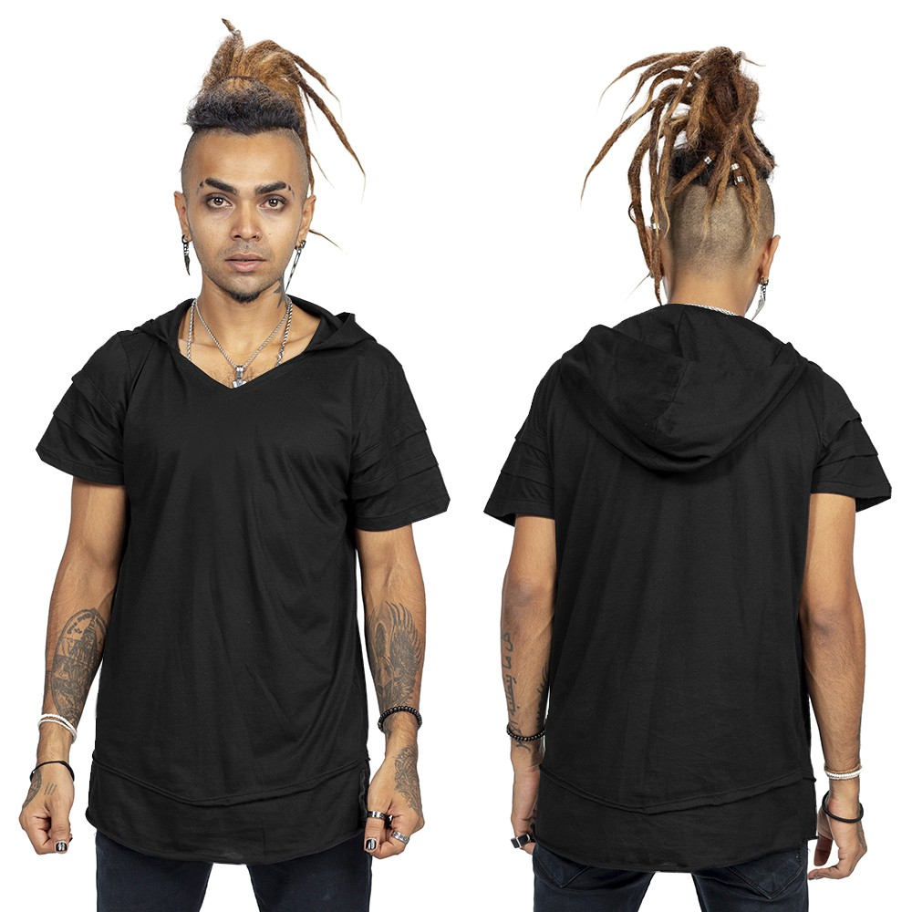 "T-shirt \""Stonehenge\"", Noir"
