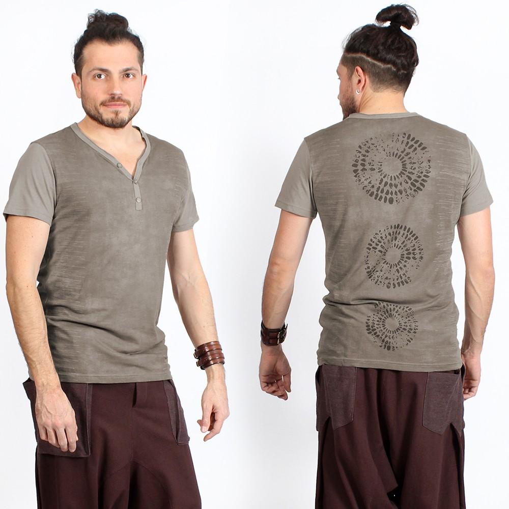 "T-shirt \""Subura\"", Gris beige"