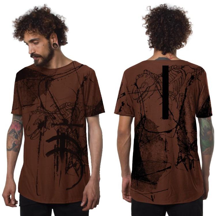 "T-shirt \""T-Rex\"", Orangé"