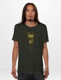 "T-shirt \""Tea Break\"", Vert kaki foncé"