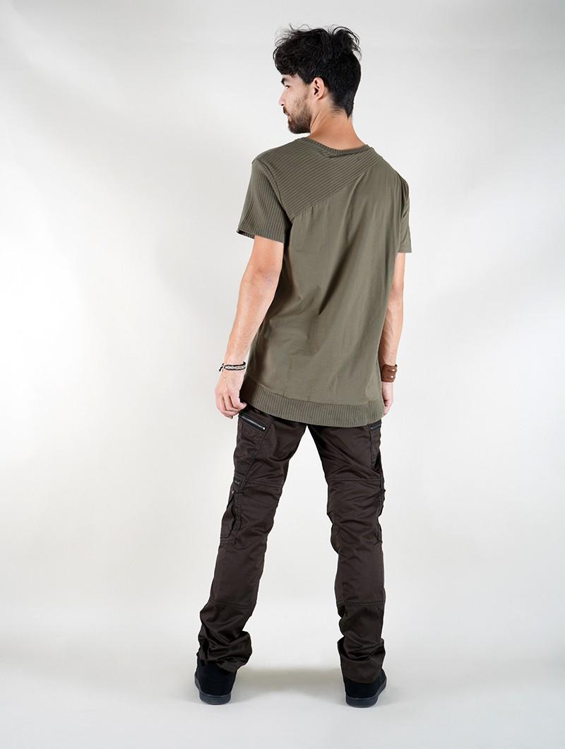 "T-shirt \""Tenere\"", Vert olive"