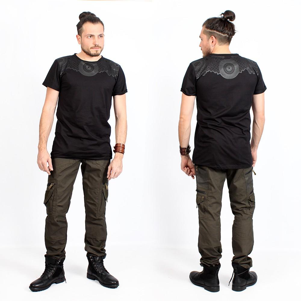 "T-shirt \""Tierra Amnesia\"", Noir"