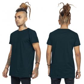 """T-shirt \""""Tierra Benedikt\"""", Bleu pétrole et noir"""