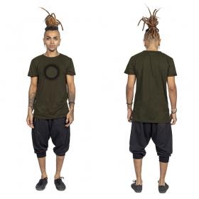 """T-shirt \""""Tierra Helios\"""", Kaki et noir"""