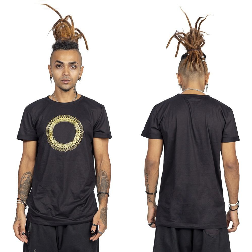 """T-shirt \""""Tierra Helios\"""", Noir et or"""