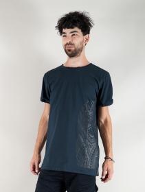"T-shirt \""Tierra Maori\"", Bleu pétrole"