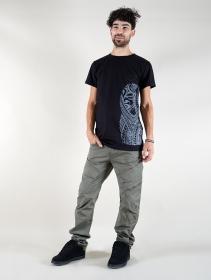 """T-shirt \""""Tierra Maori\"""", Noir"""
