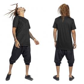"""T-shirt \""""Tierra Pollux\"""", Gris et noir"""