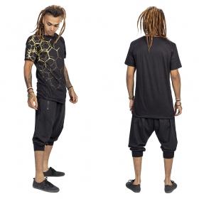 """T-shirt \""""Tierra Pollux\"""", Noir et or"""
