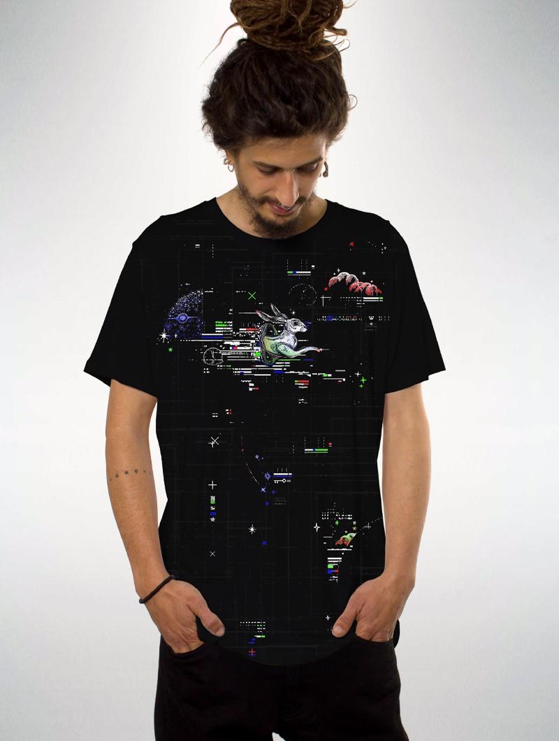 "T-shirt \""Transfer\"", Noir"