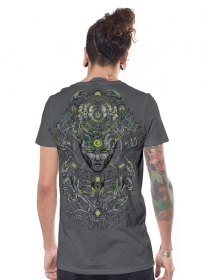 "T-shirt ""Tree Spirit\"", Gris"