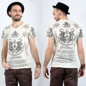 "T-shirt \""Twin Tiger\"", Blanc"