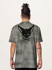 "T-shirt \""Twizy\"", Gris tie-dye"