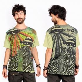 """T-shirt \""""U.F.O.\"""", Vert"""