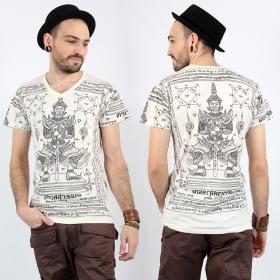 """T-shirt \""""Vaisravana\"""", Blanc"""