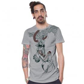 "T-shirt \\\""Velocity\\\"", Gris clair"