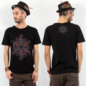 "T-shirt \""Vortex\"", Noir"