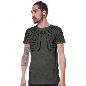 "T-shirt \""War Paint\"", Kaki chiné"