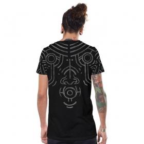 """T-shirt \""""War Paint\"""", Noir"""