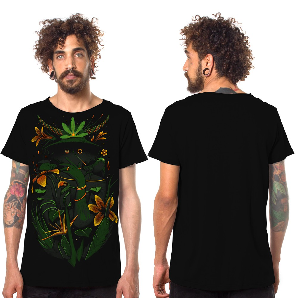 "T-shirt ""Where is the forest\"", Noir"