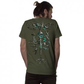 "T-shirt \""Wind Key\"", Kaki"
