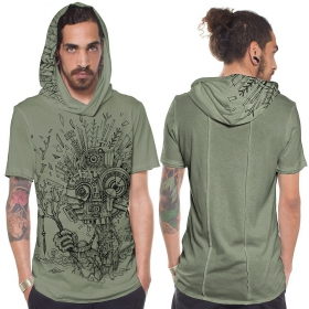 "T-shirt ""Wood Spirit\"", Vert clair"