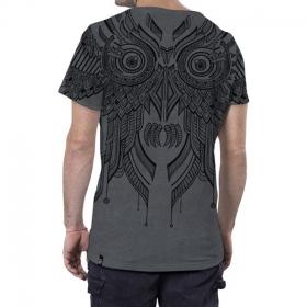 "T-shirt \""Yanshu\"", Gris chiné"