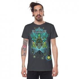 """T-shirt \""""Yogi Traveller\"""", Gris foncé"""