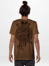 "T-shirt \""Yokai\"", Moka chiné"